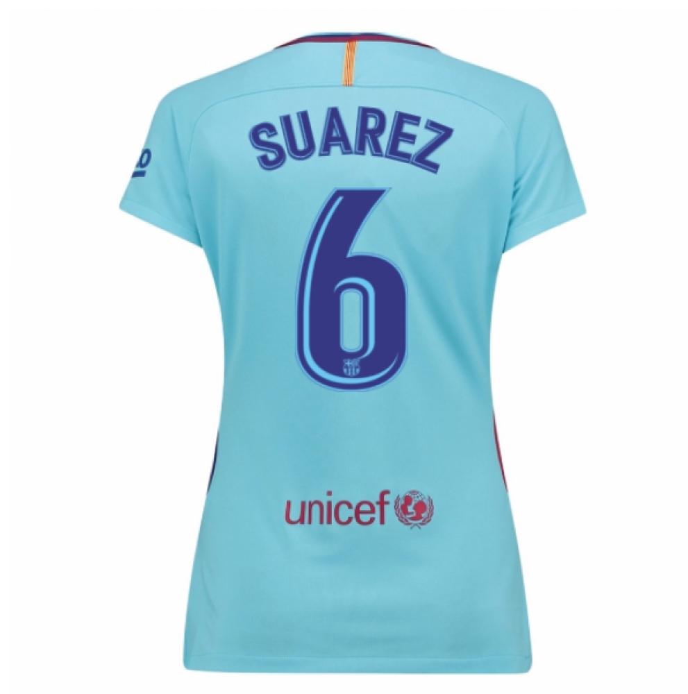 2017-2018 Barcelona Womens Away Shirt (Suarez 6)