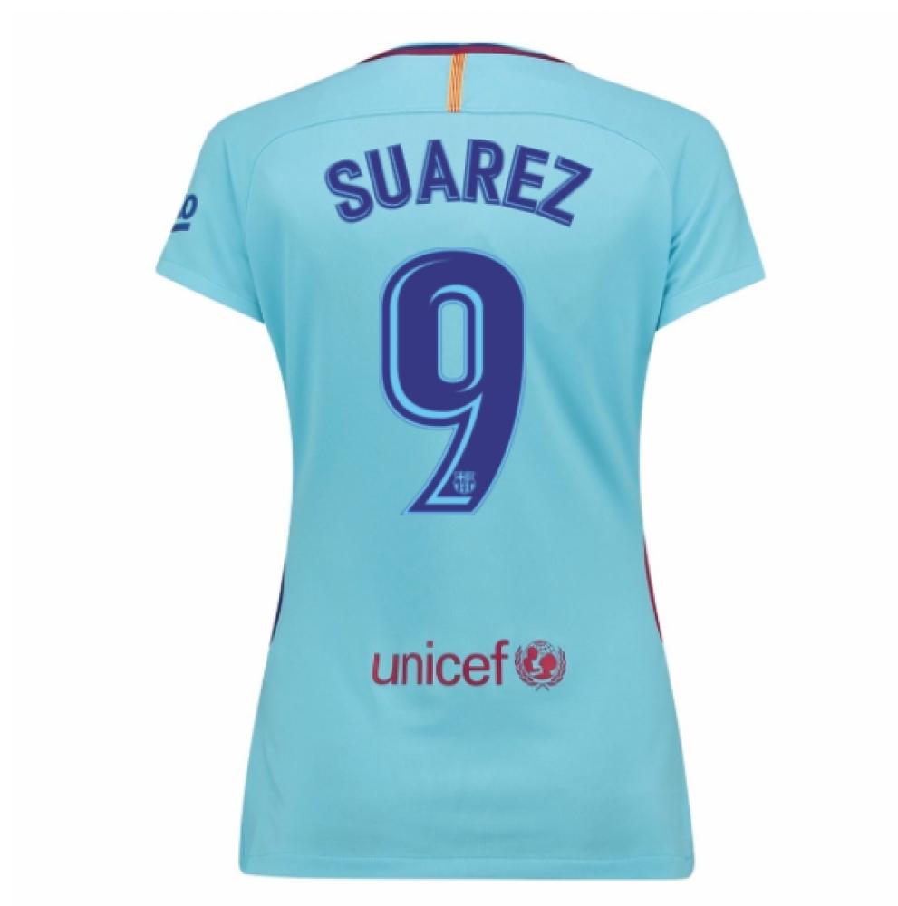 2017-2018 Barcelona Womens Away Shirt (Suarez 9)