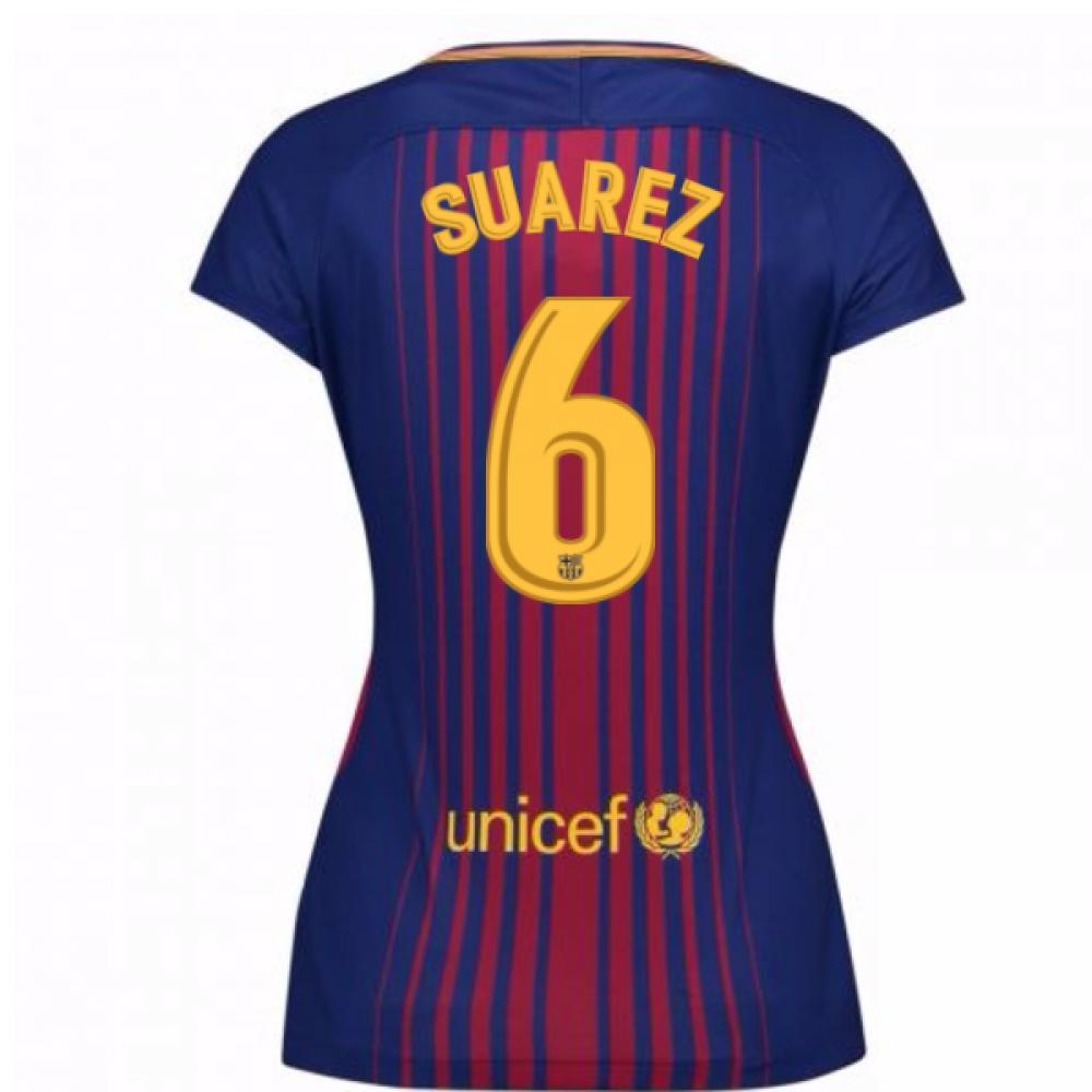 2017-2018 Barcelona Womens Home Shirt (Suarez 6)