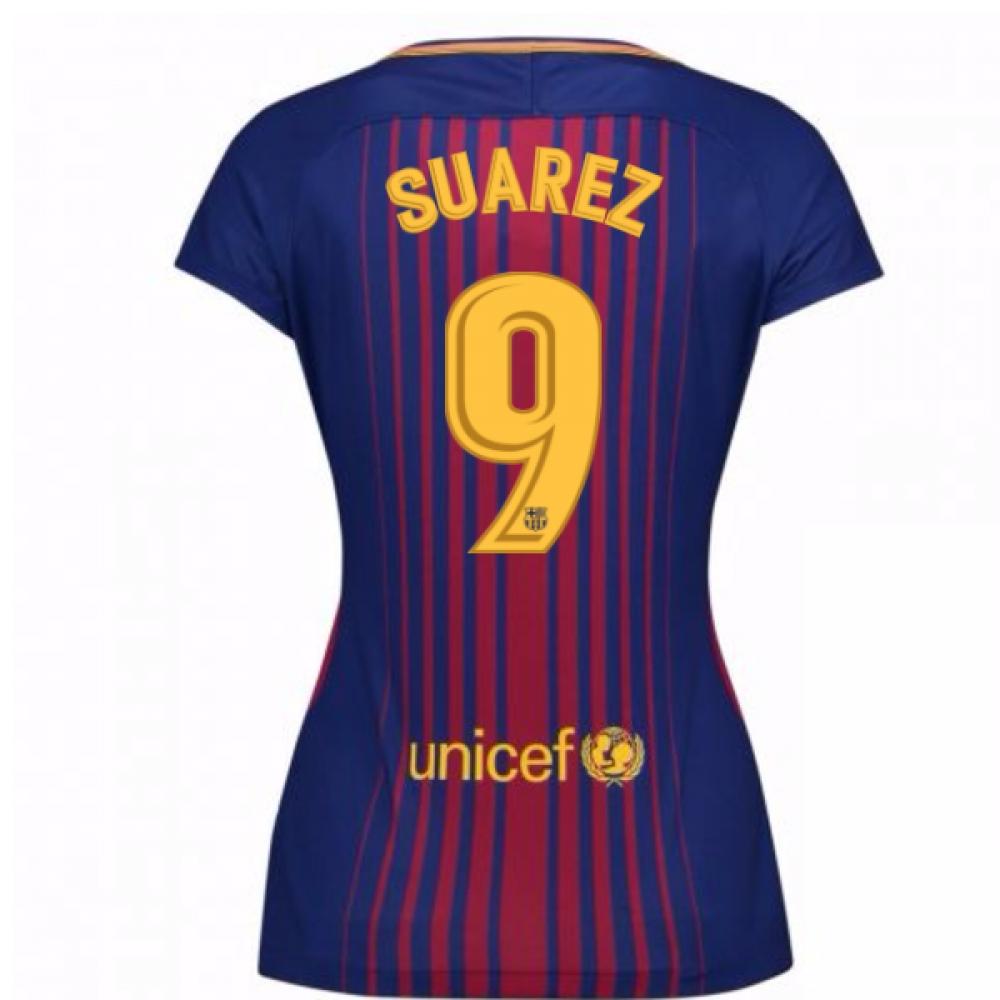 2017-2018 Barcelona Womens Home Shirt (Suarez 9)