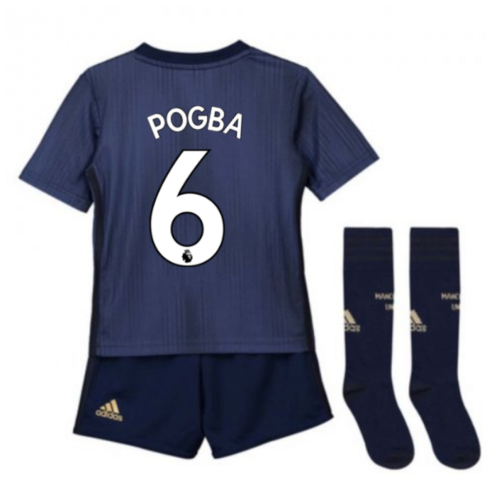 ... brand new 0eb8c 28ff1 2018-2019 Man Utd Adidas Third Little Boys Mini  Kit ... d07e68bca
