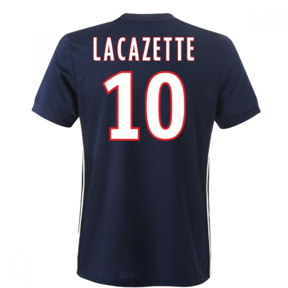 2017-2018 Lyon Adidas Away Shirt (Lacazette 10)