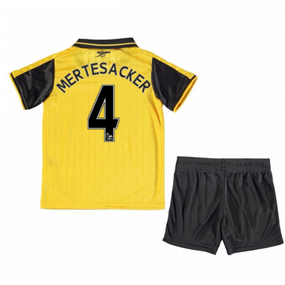 2016-17 Arsenal Away Mini Kit (Mertesacker 4)