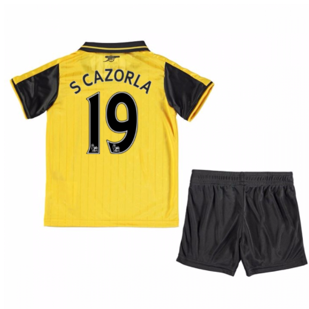 2016-17 Arsenal Away Mini Kit (S Cazorla 19)