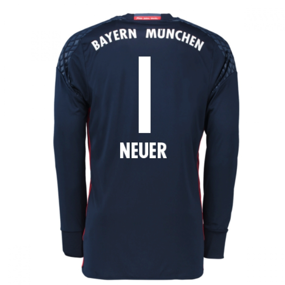 4debfce33 ... cheap black home goalkeeper long shirt 2016 17 bayern munich home goalkeeper  shirt neuer 1 kids
