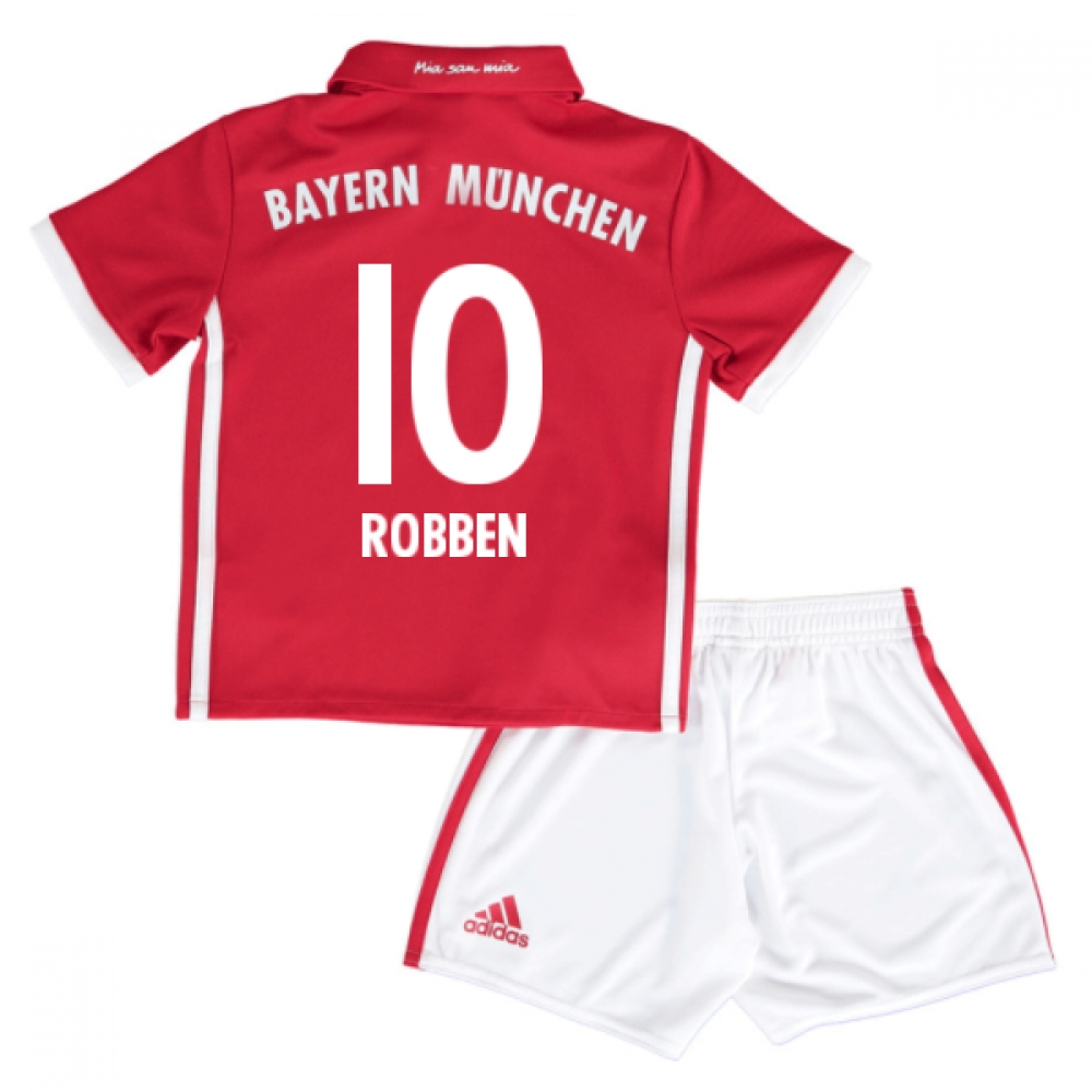 2016-17 Bayern Munich Home Mini Kit (Robben 10)