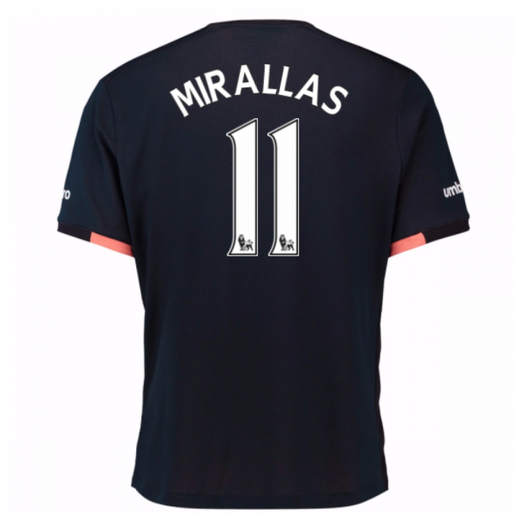 2016-17 Everton Away Shirt (Mirallas 11)
