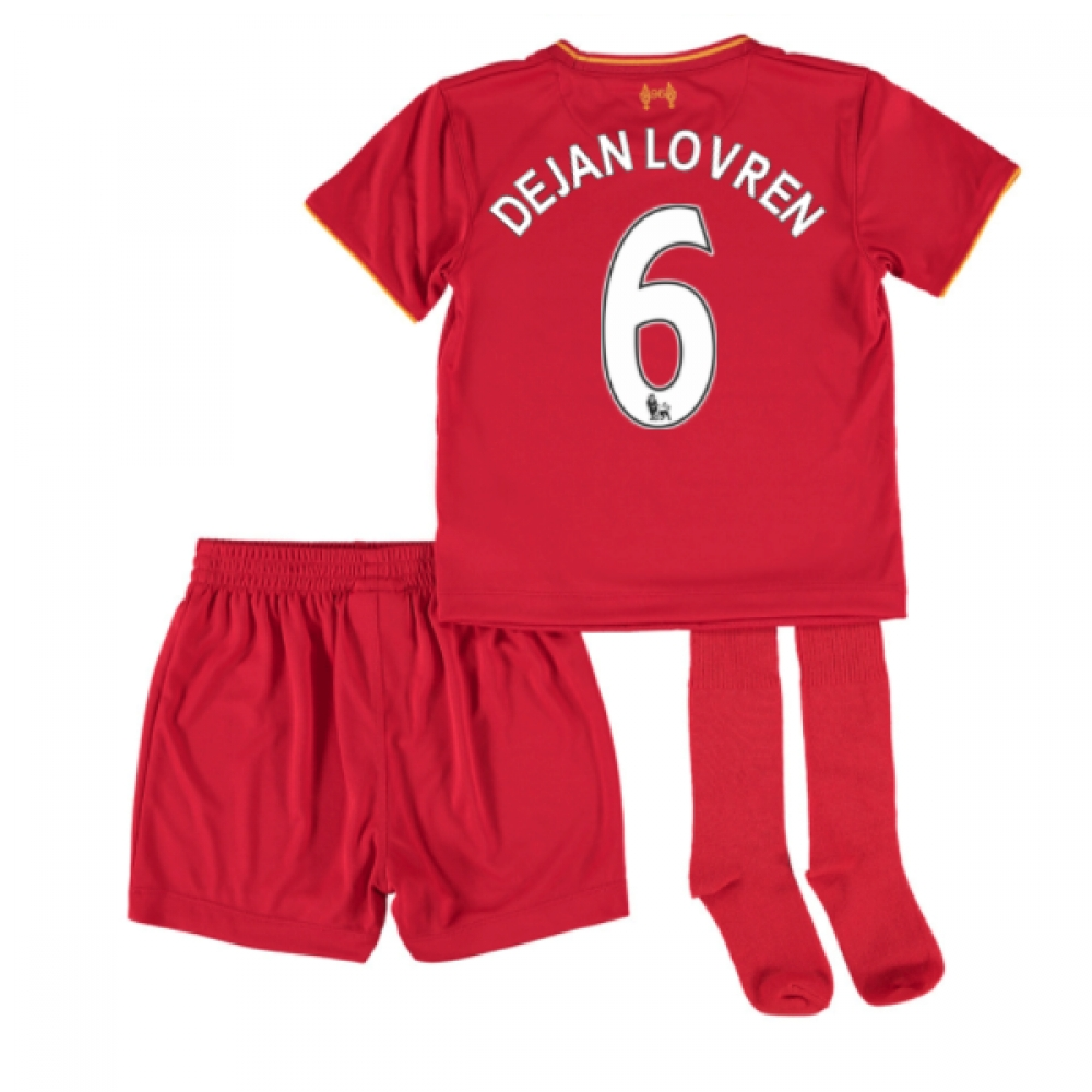 201617 Liverpool Home Mini Kit (Dejan Lovren 6)