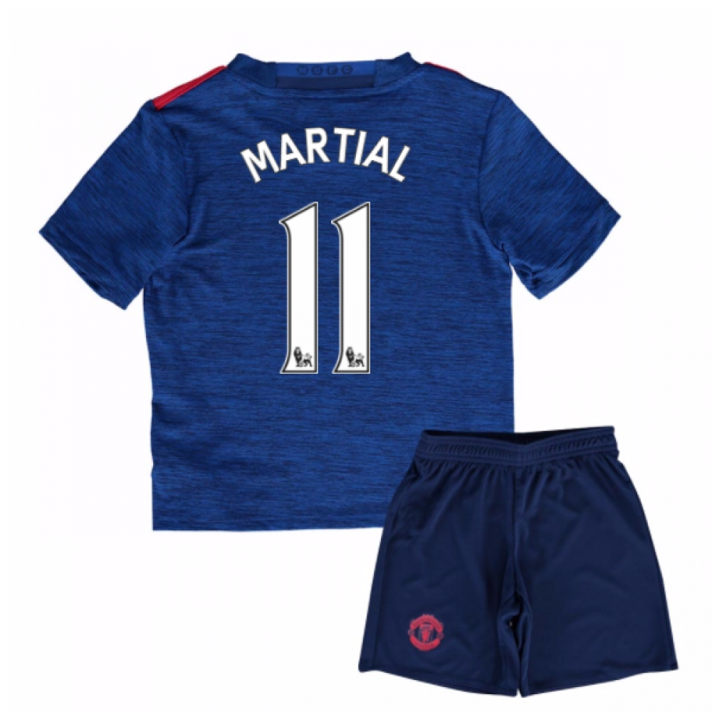 2016-17 Man United Away Mini Kit (Martial 11)