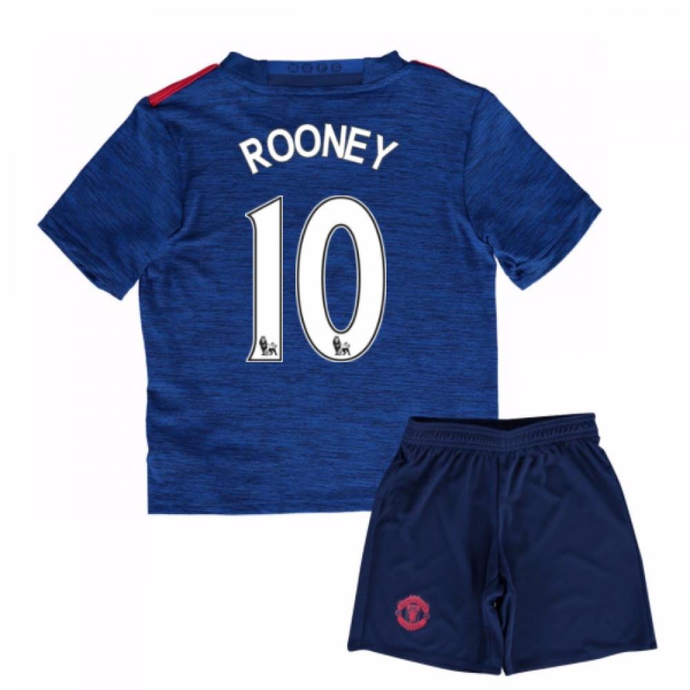 2016-17 Man United Away Mini Kit (Rooney 10)