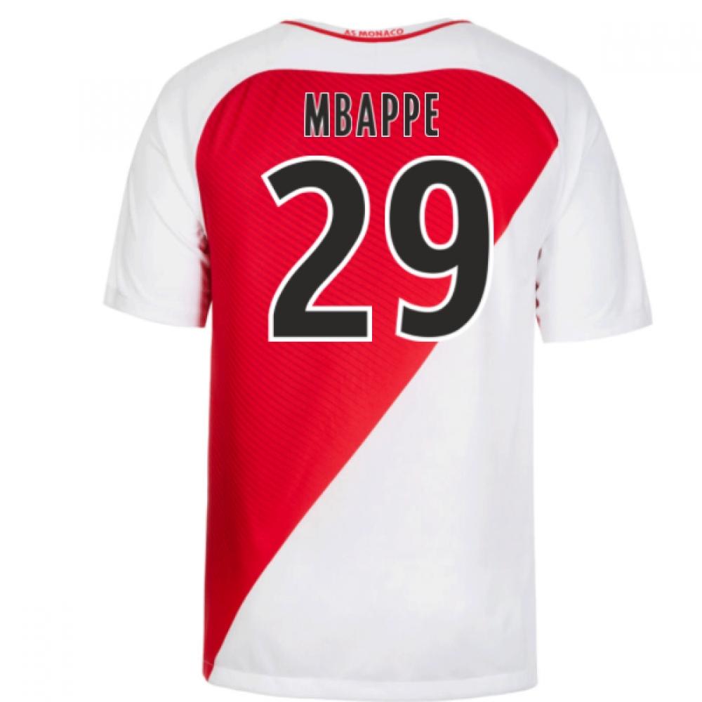 2016-17 Monaco Home Shirt (Mbappe 29)