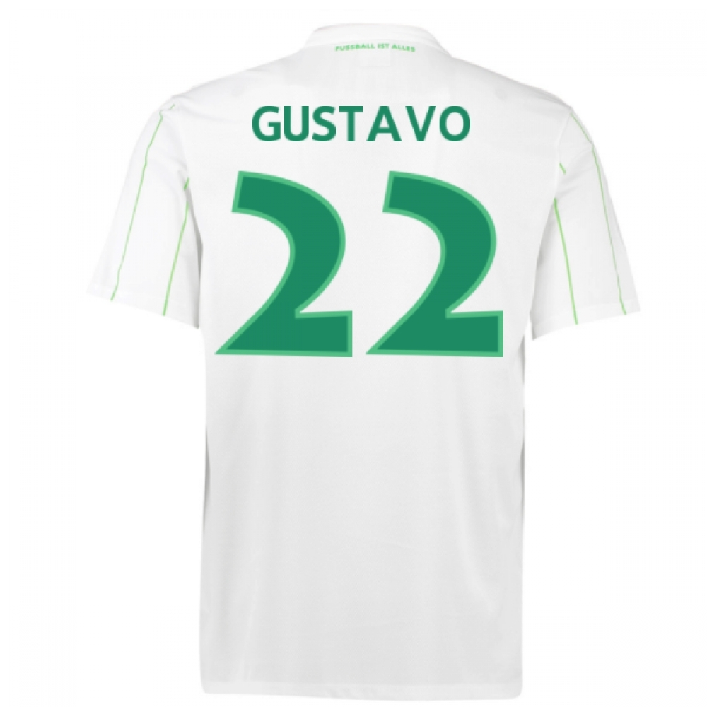 2016-17 Vfl Wolfsburg Away Shirt (Gustavo 22) - Kids