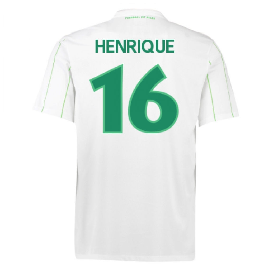 2016-17 Vfl Wolfsburg Away Shirt (Henrique 16) - Kids