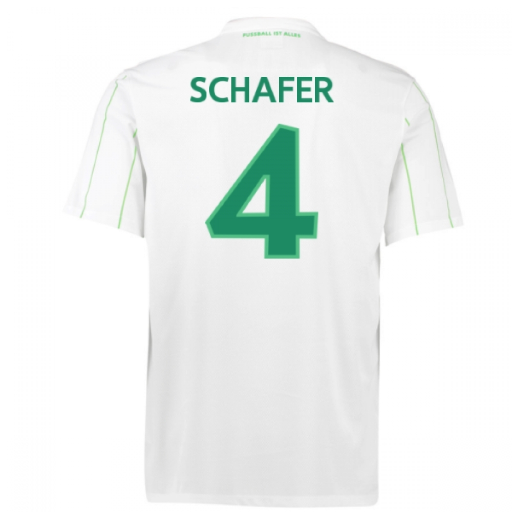 2016-17 Vfl Wolfsburg Away Shirt (Schafer 4)