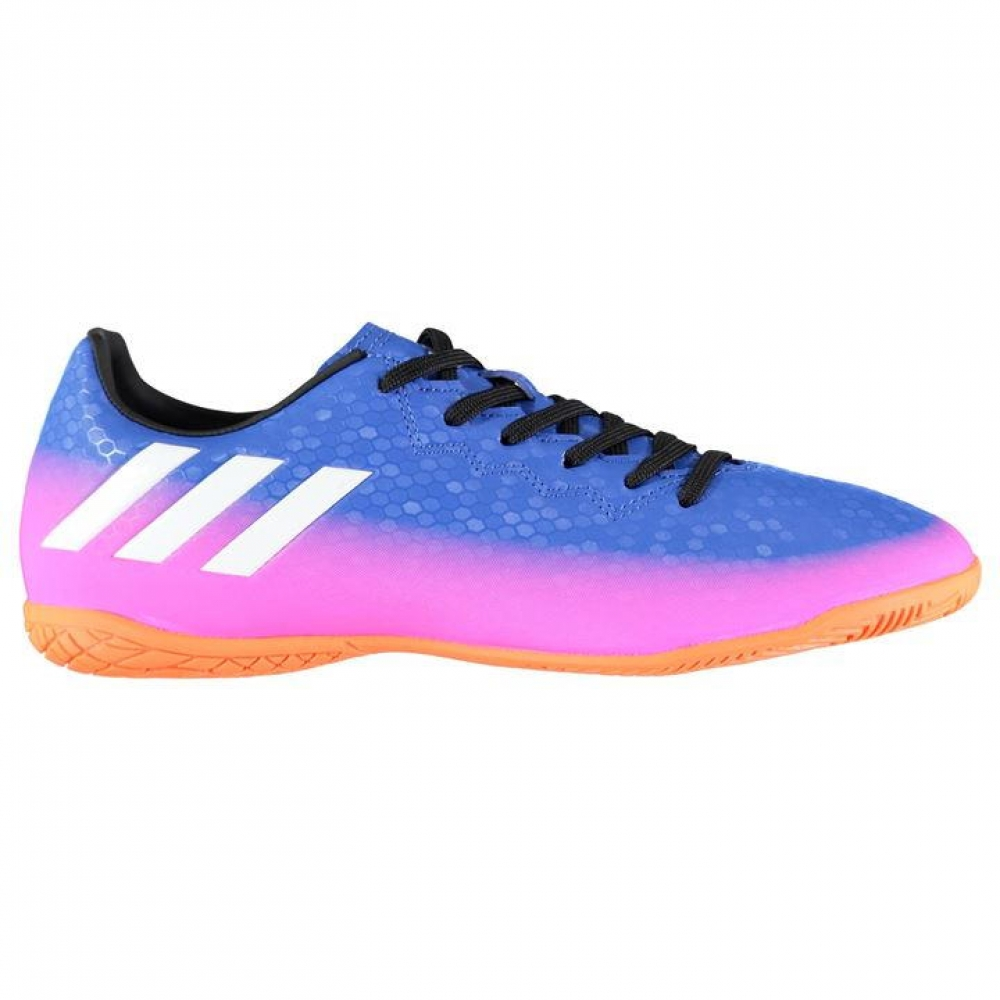 Adidas Messi 16.4 Mens Indoor Court Trainers (Blue-Pink)