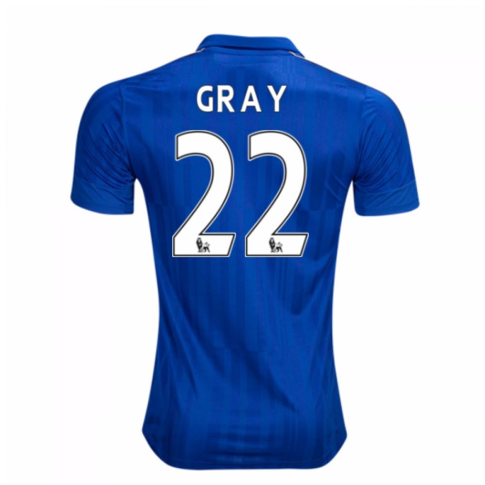 2016-17 Leicester City Home Shirt (Gray 22)