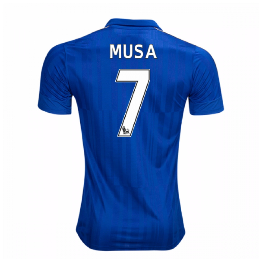 2016-17 Leicester City Home Shirt (Musa 7)