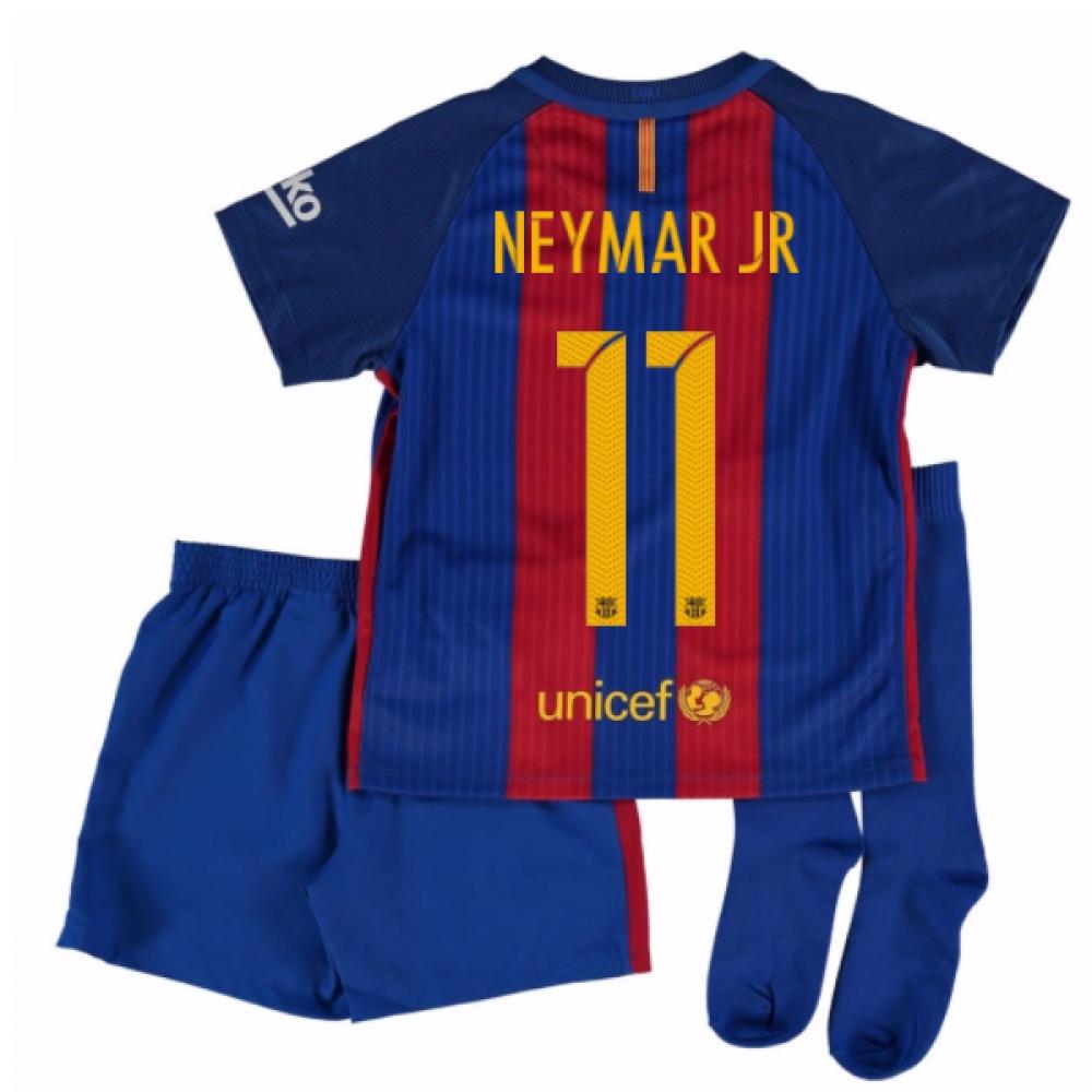 2016-17 Barcelona Home Mini Kit Shirt (Neymar JR 11)