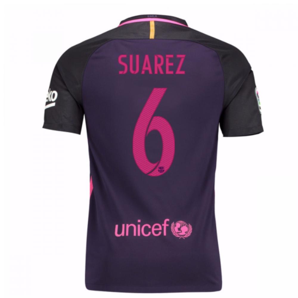 2016-17 Barcelona Away Shirt (Dennis Suarez 6) - Kids