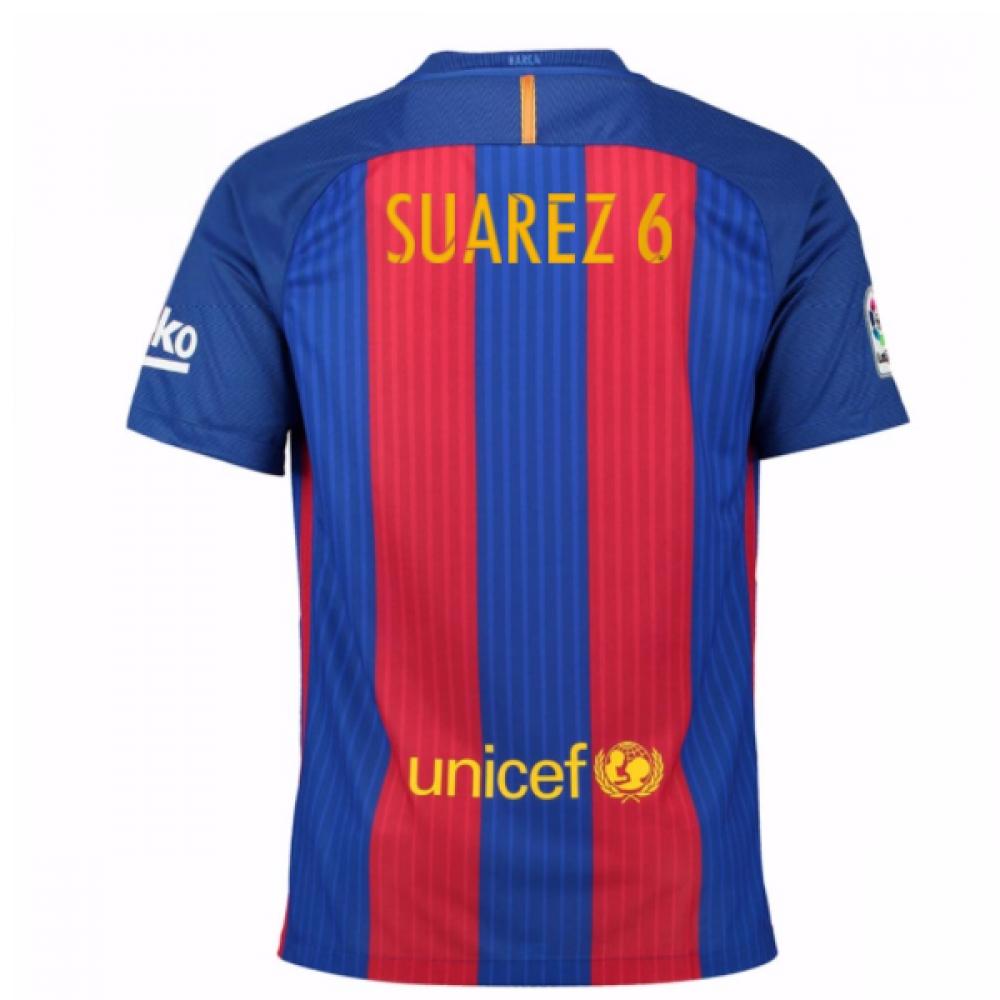 2016-17 Barcelona Home Shirt (Dennis Suarez 6)