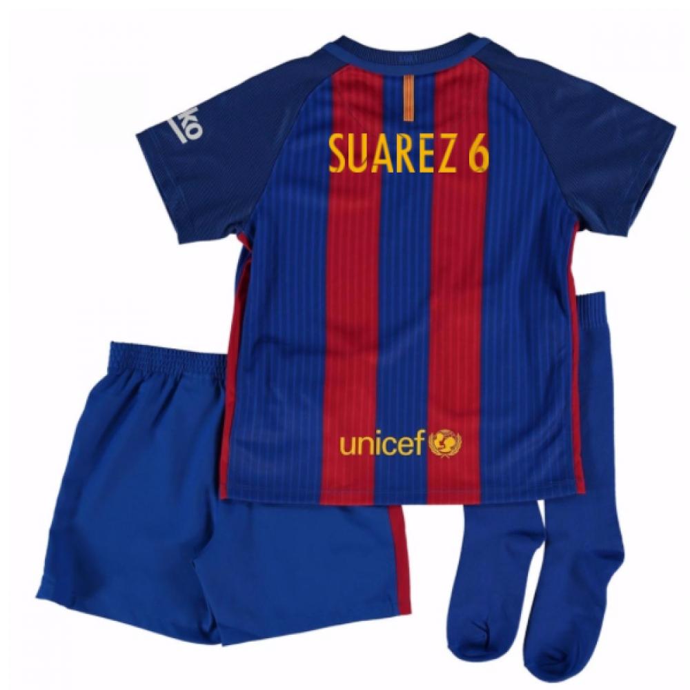 2016-17 Barcelona Home Mini Kit Shirt (Dennis Suarez 6)