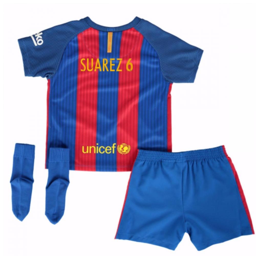2016-17 Barcelona Home Baby Kit (Dennis Suarez 6)