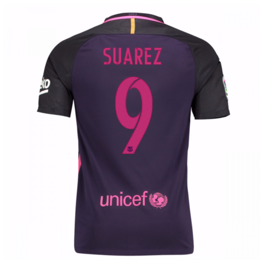 2016-17 Barcelona Away Shirt (Suarez 9)