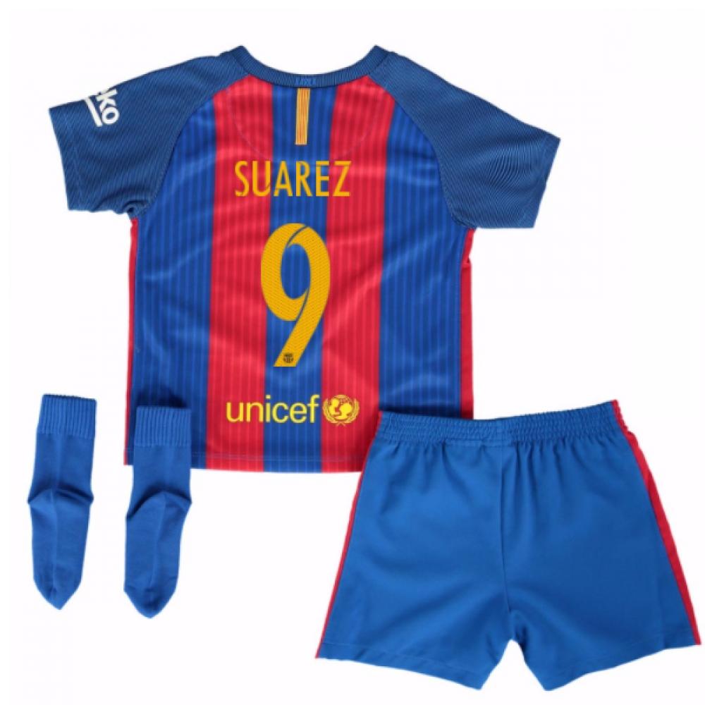 2016-17 Barcelona Home Baby Kit (Suarez 9)