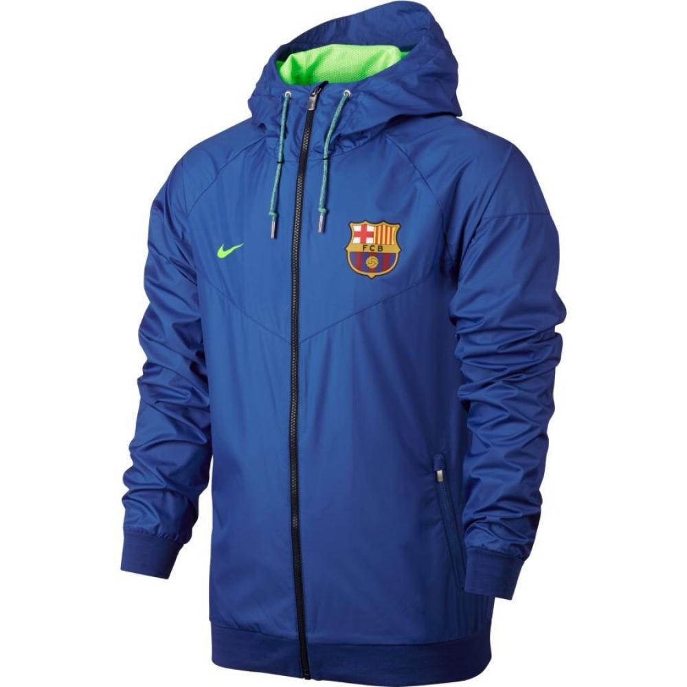 2016-2017 Barcelona Nike Authentic Windrunner Jacket (Royal)