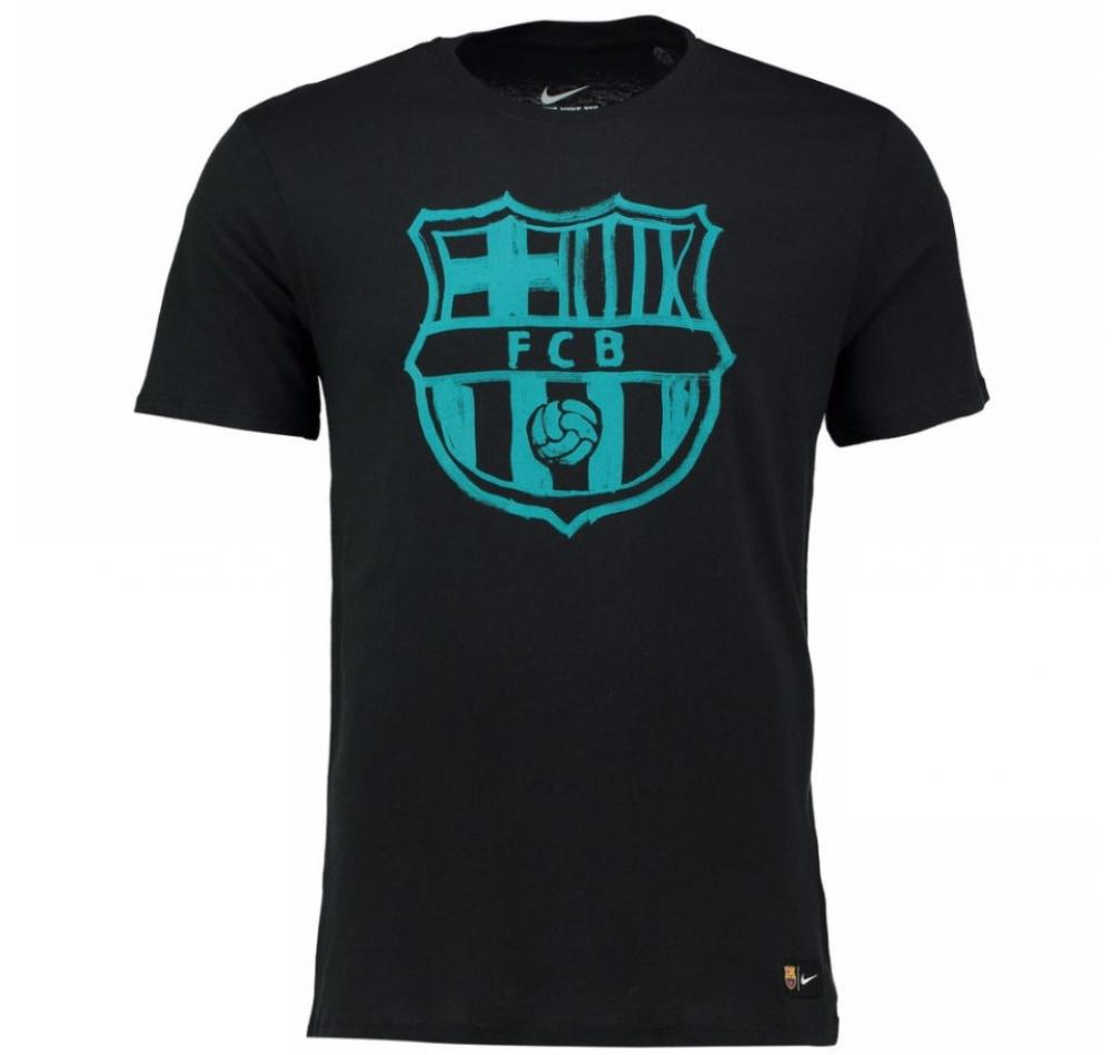 2016-2017 Barcelona Nike Crest T-Shirt (Black-Energy)