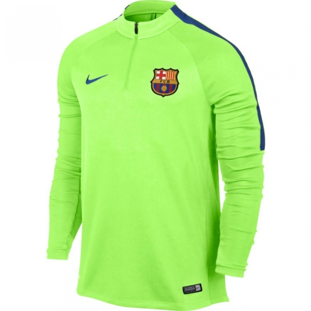 2016-2017 Barcelona Nike Drill Training Top (Ghost Green)