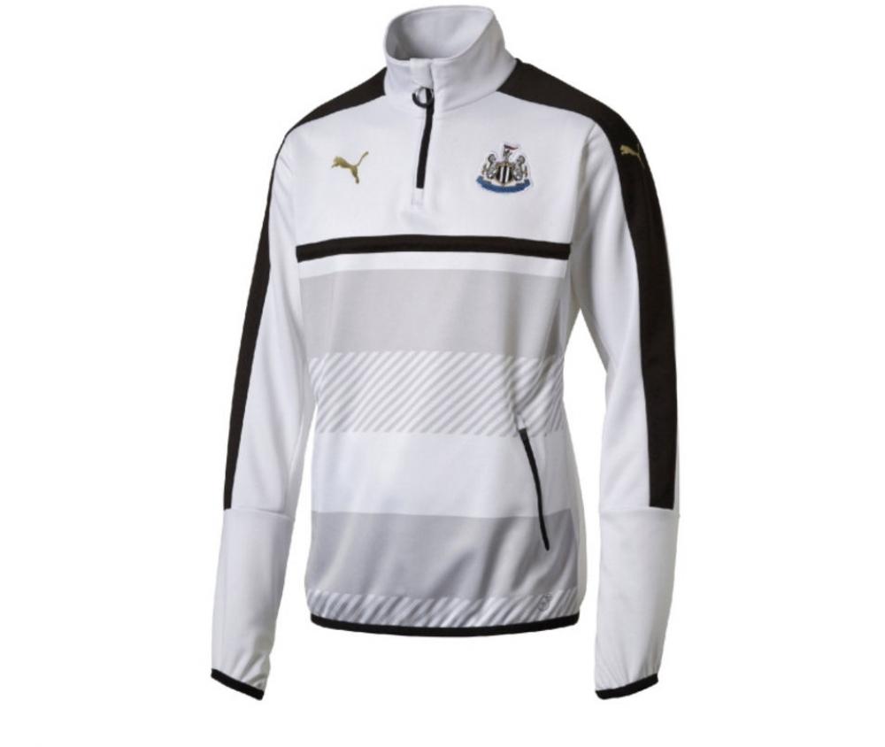 2016-2017 Newcastle Puma Quarter Zip Training Top (White)