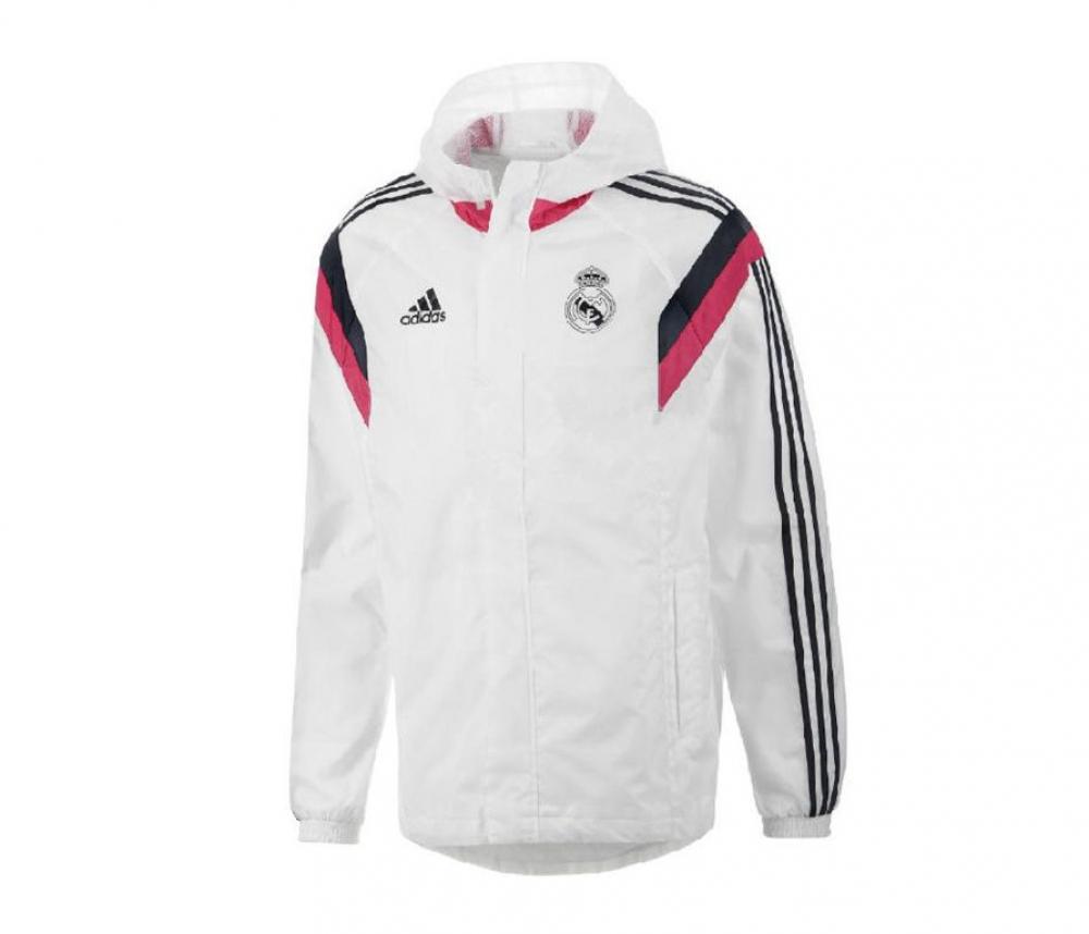 2016-2017 Real Madrid Adidas Allweather Jacket (White)