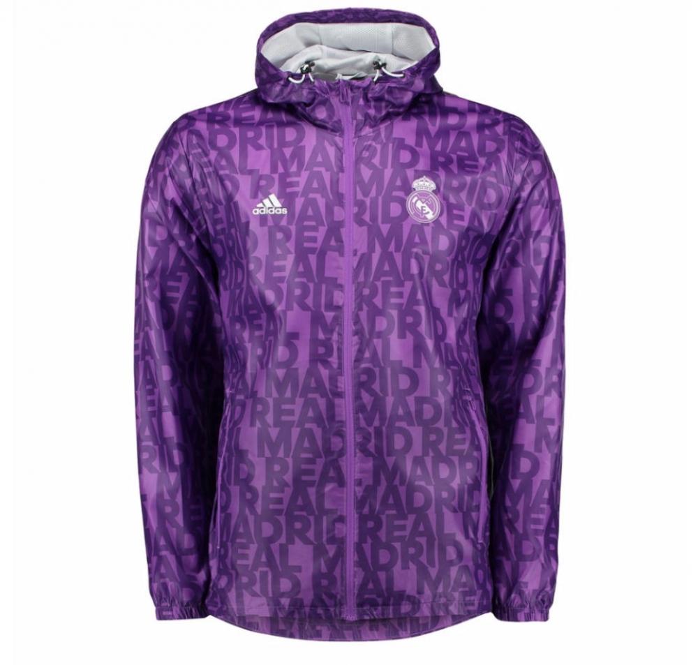 2016-2017 Real Madrid Adidas Windbreaker (Purple)