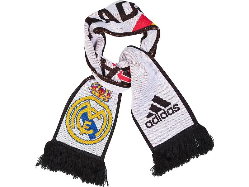 20142015 Real Madrid Adidas 3 Stripe Scarf (White)