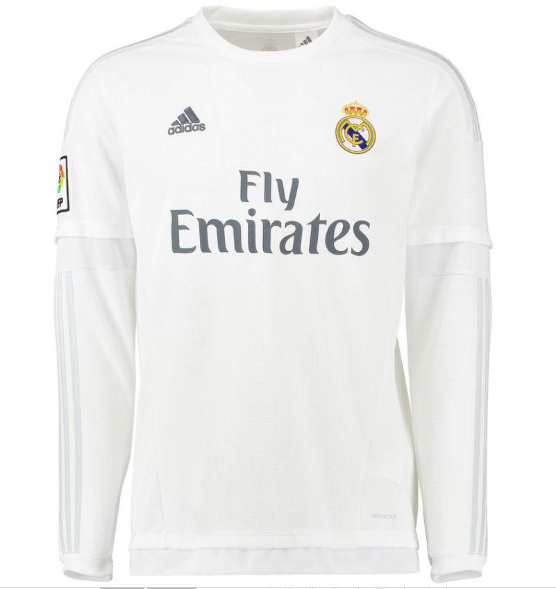 2015 2016 real madrid adidas home long sleeve shirt kids