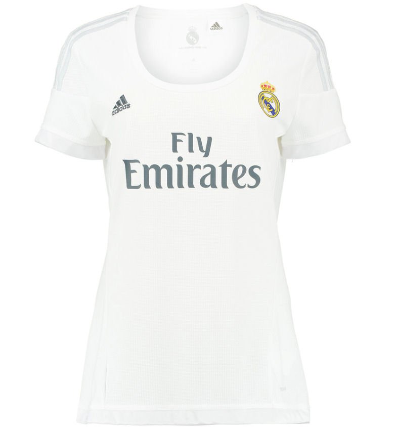 20152016 Real Madrid Adidas Womens Home Shirt