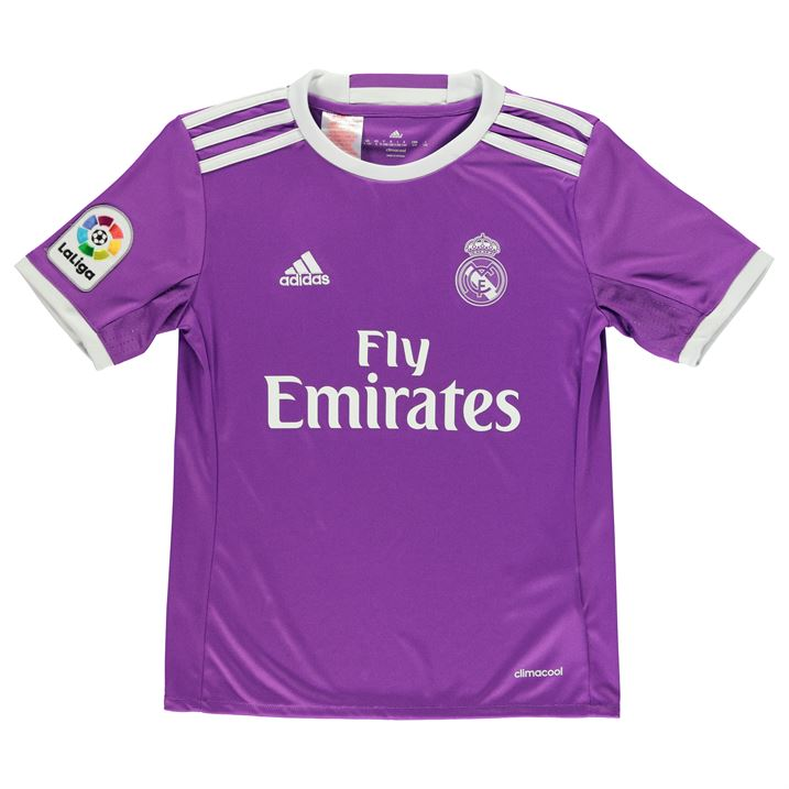 d83b500fe425 ... Home White Soccer Jerses 2016-2017 Real Madrid Adidas Away Shirt (Kids)  AI5163 - Ukso ...
