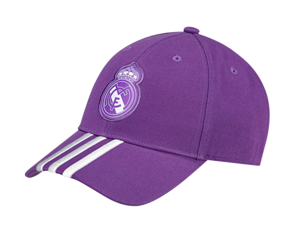 20162017 Real Madrid Adidas 3 Stripe Baseball Cap (Purple)