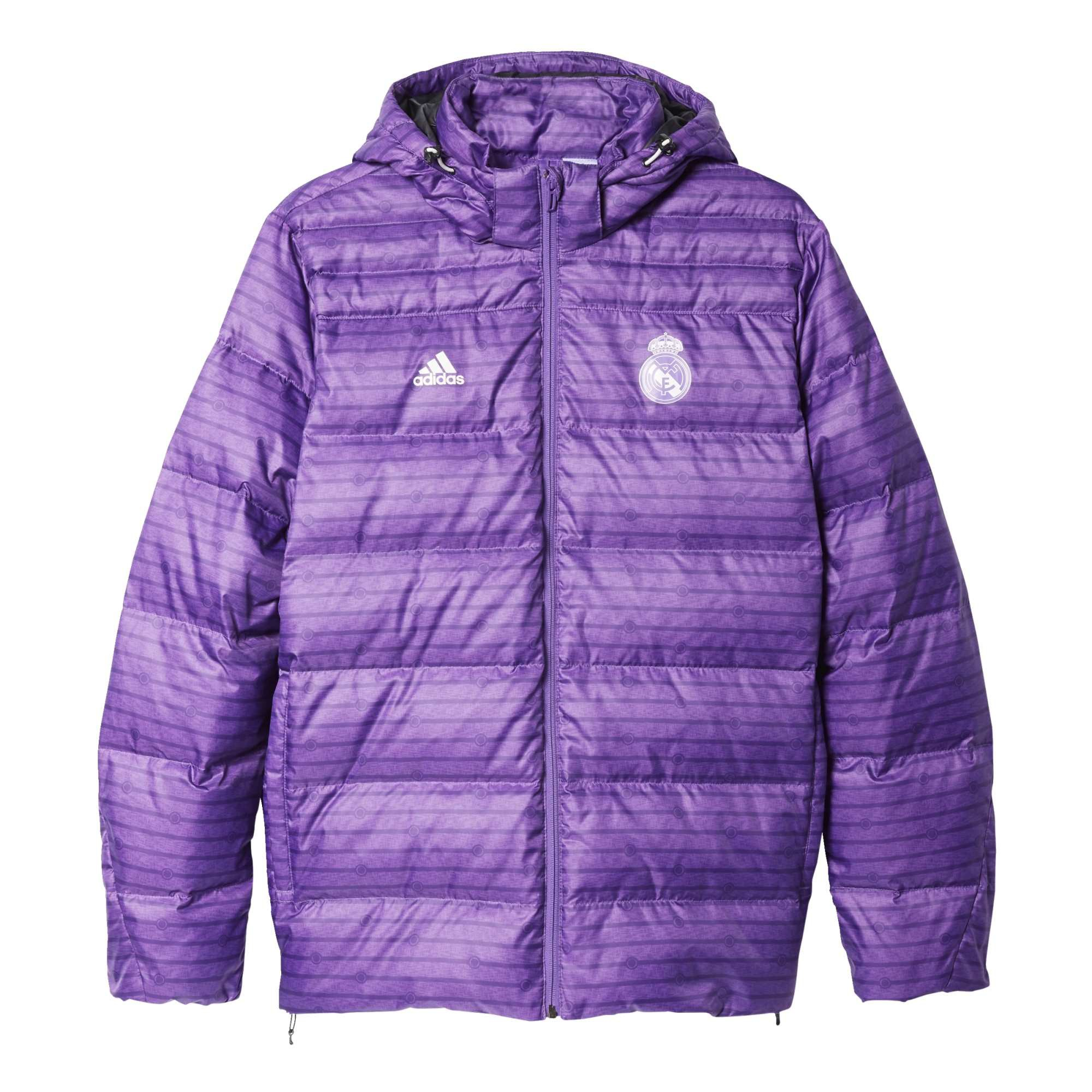 20162017 Real Madrid Adidas Down Jacket (Purple)