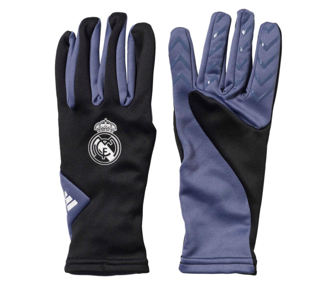 2016-2017 Real Madrid Adidas Fieldplayer Gloves (Black)