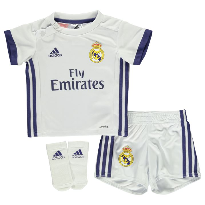 20162017 Real Madrid Adidas Home Baby Kit