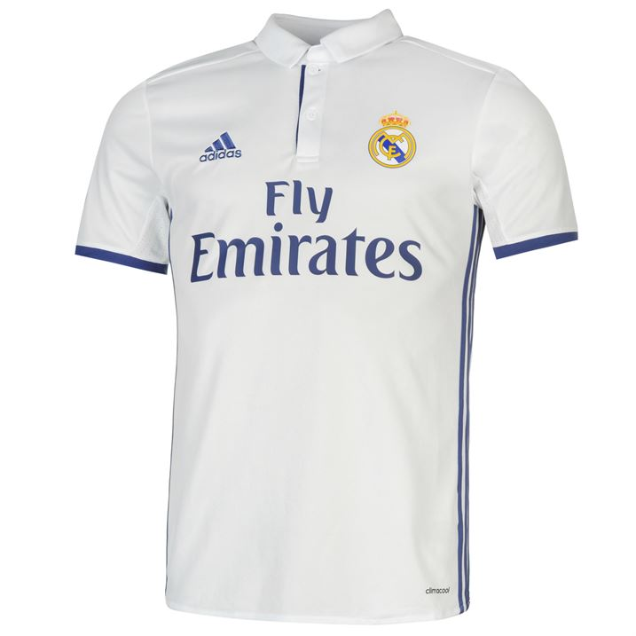 20162017 Real Madrid Adidas Home Football Shirt