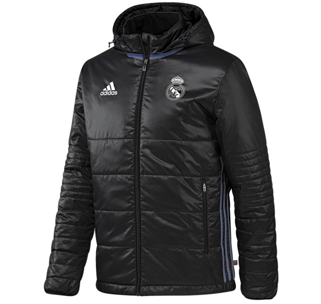 20162017 Real Madrid Adidas Padded Jacket (Black)