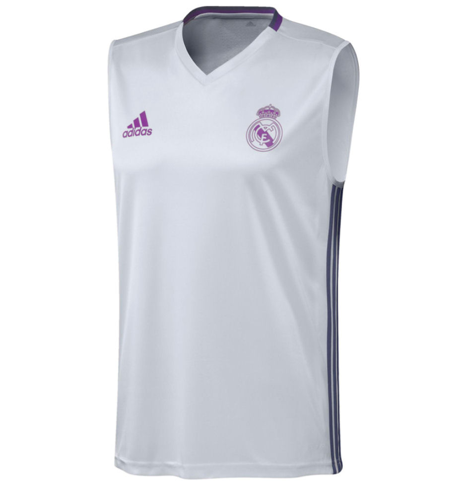 2016-2017 Real Madrid Adidas Sleeveless Jersey (White)