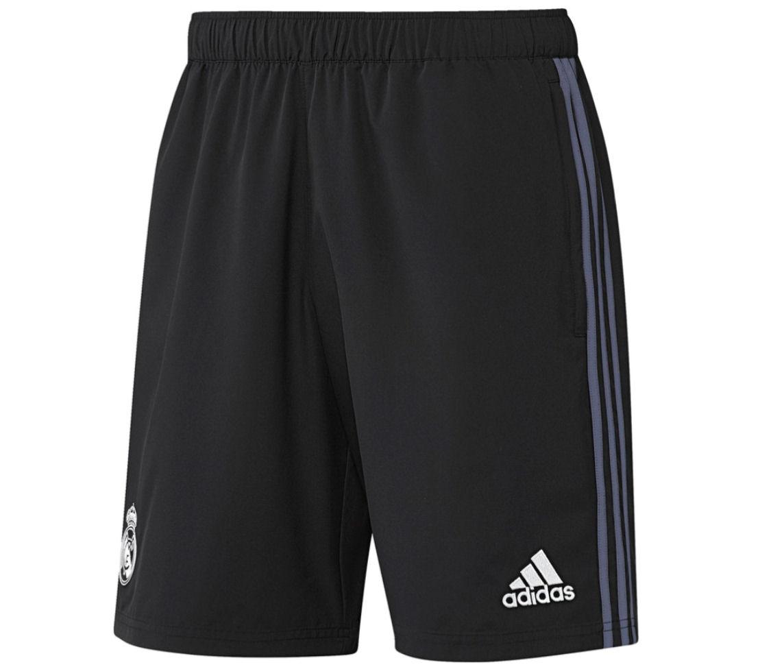 2016-2017 Real Madrid Adidas Woven Shorts (Black)