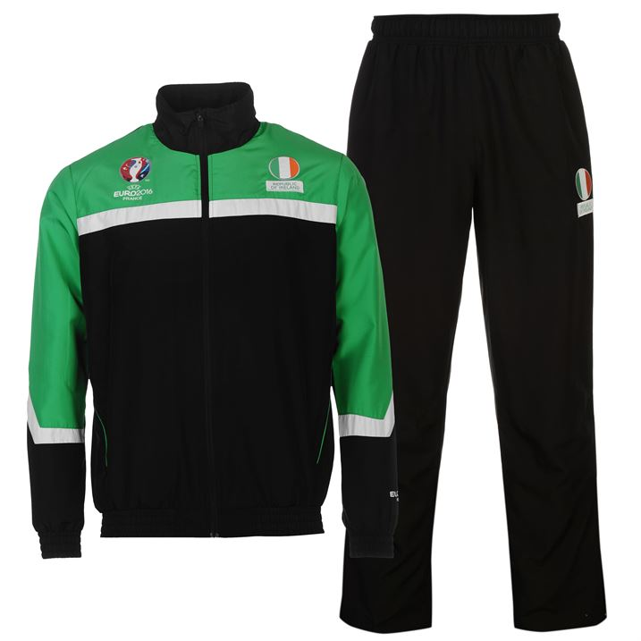 Republic of Ireland UEFA Euro 2016 Tracksuit (Black)