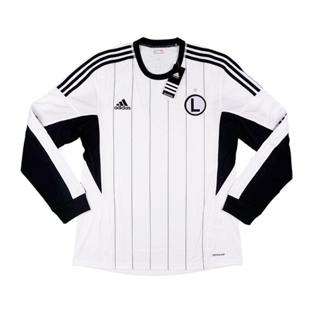 2013-14 Legia Warsaw Adidas Home Authentic Long Sleeve Football Shirt