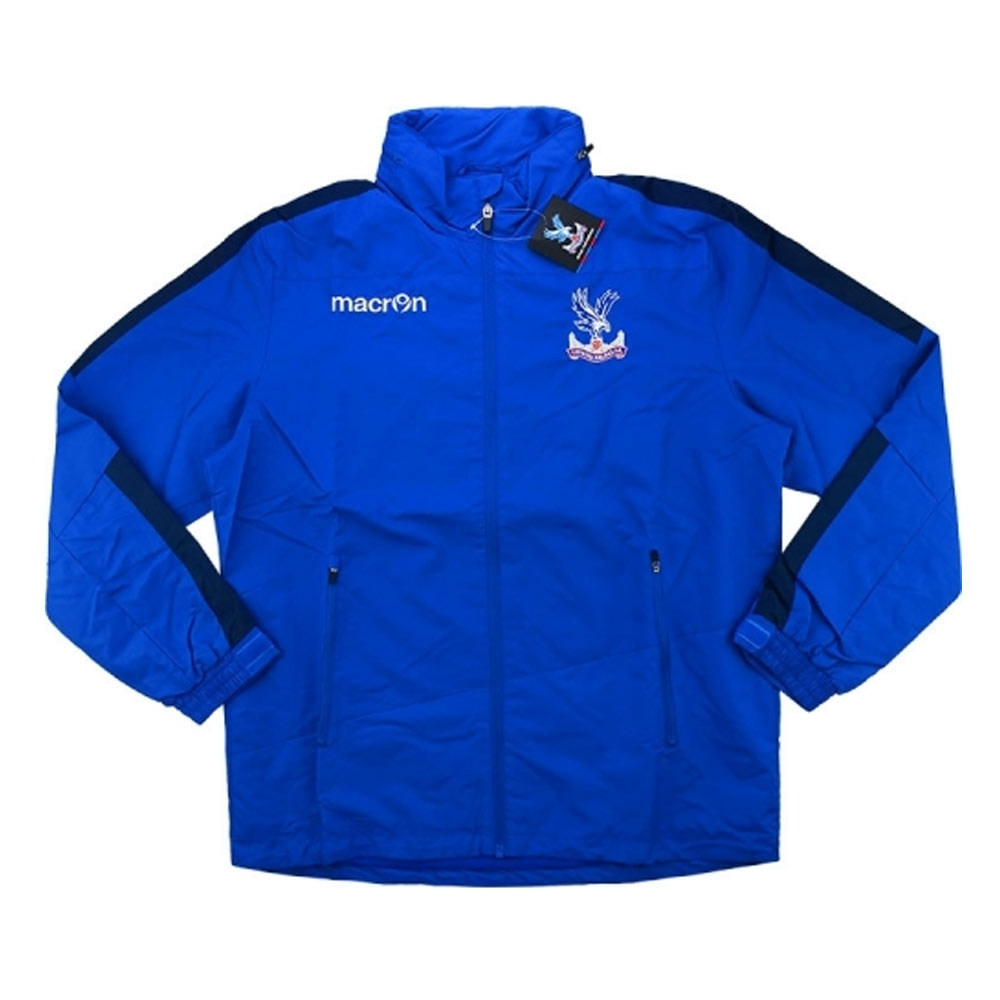 2016-17 Crystal Palace Macron Windbreaker Jacket (Blue)