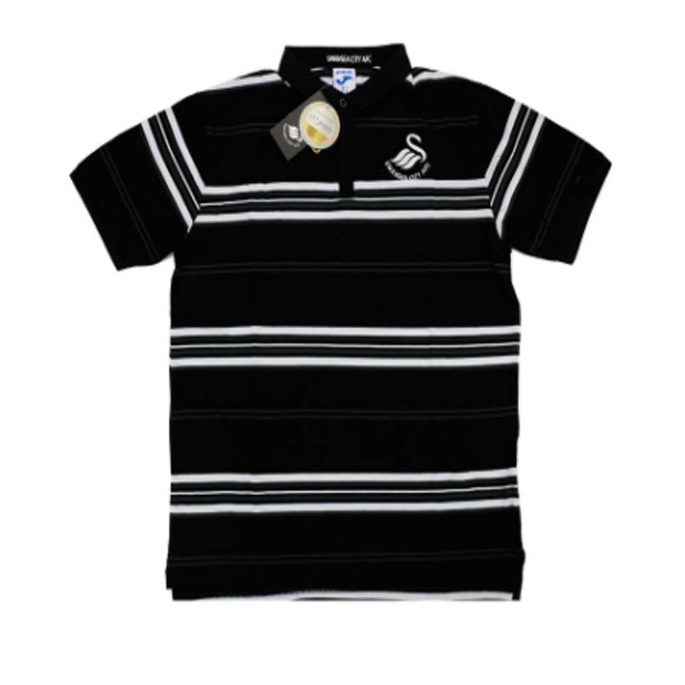 2016-2017 Swansea Joma Cotton Polo T-Shirt (Black)